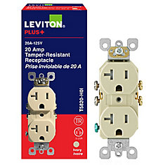 Leviton 20 amp duplex receptacle ivory the home depot canada 20 amp duplex receptacle publicscrutiny Image collections