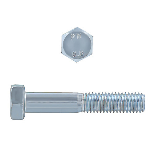 M8-1.25 x 45mm Class 8.8 Metric Hex Cap Screw - DIN 931 - Zinc Plated