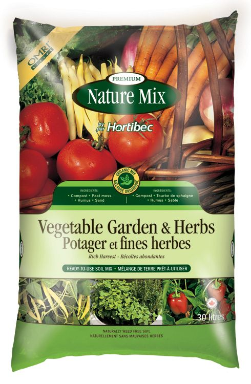 Nature Mix Vegetable Gardens and Herb Mix 30 - Litres