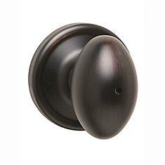 Welcome Home Collections Laurel Venetian Bronze Privacy Knob