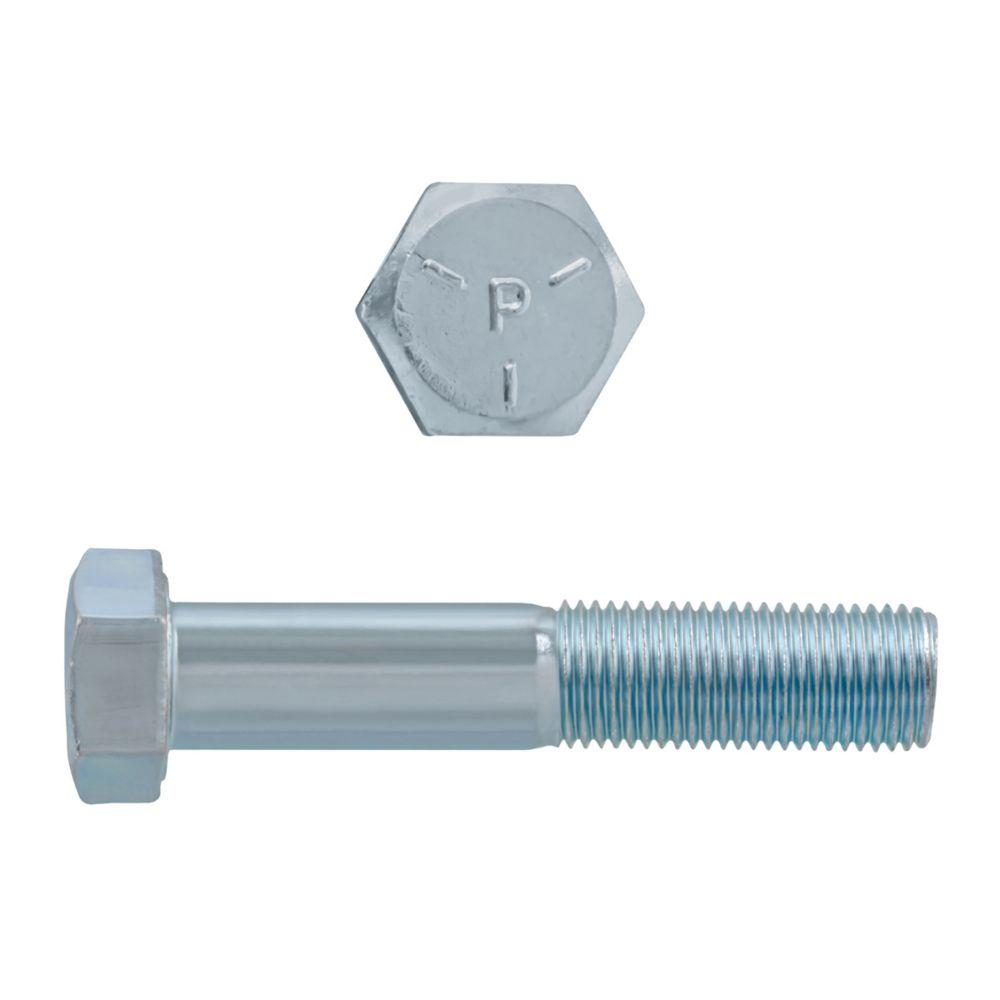 1/2x2-1/2 Boulons Hex Classe 5 Zinc Plaqué Unf