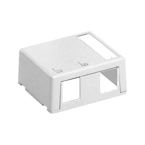 Leviton QuickPort Surface Mount Housing, 2-Port, White