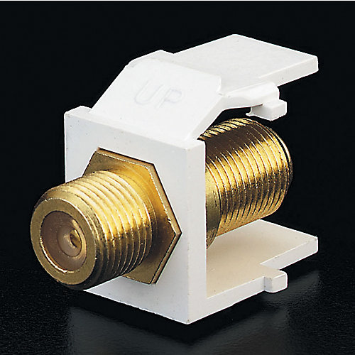 Snap-In Module, Gold Plated F Connector, White