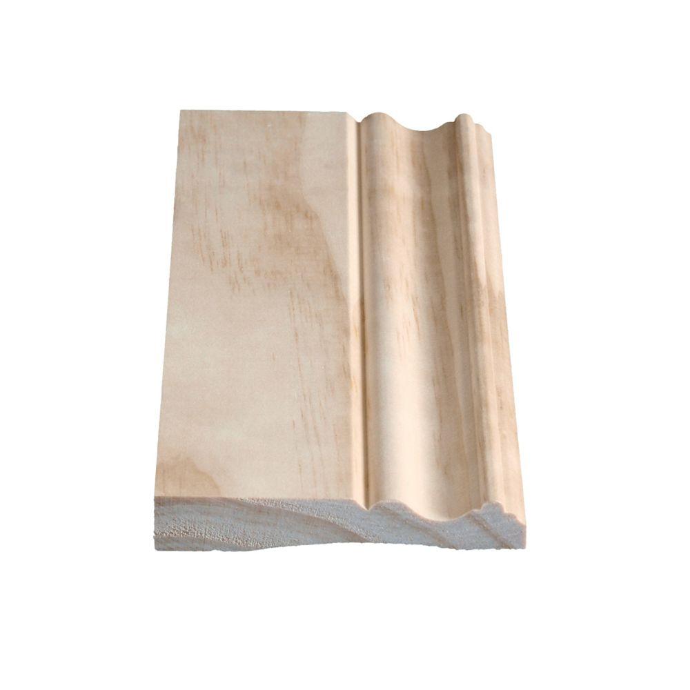 Plinthe coloniale en pin clair massif 11/16 x 4 1/8