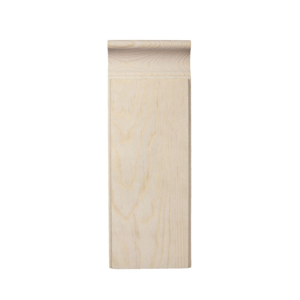 Pine Plinth Block 7/8 In. x 3 In. x 8 In.