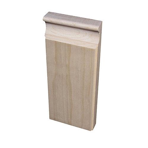 Pine Plinth Block 7/8 In. x 3-3/8 In. x 8 In.