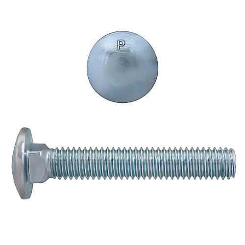 5/16-inch x 2-inch Carriage Bolt - Zinc Plated - UNC