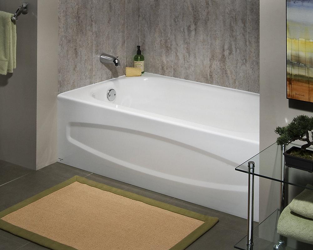 Large Tile Around Bathtub