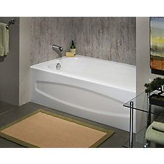 cadet 5 feet enamel steel bathtub