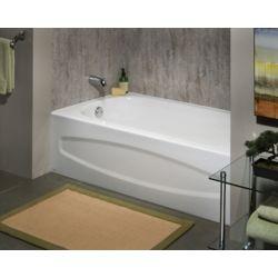 American Standard Cadet 5 ft. Enamel Steel Bathtub with Left-Hand Outlet in White