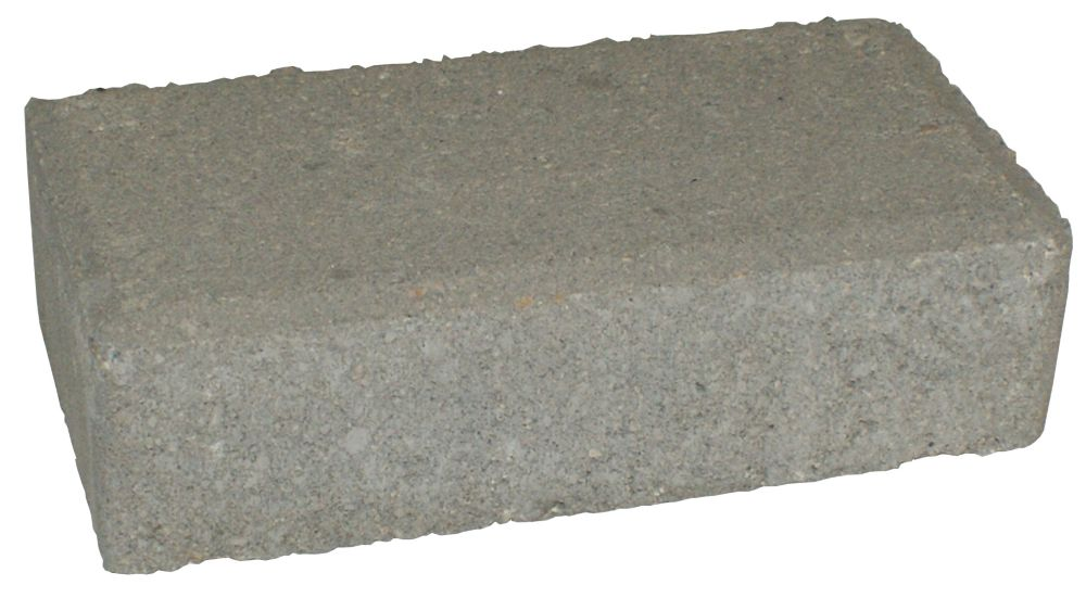 Cindercrete pav brickstone gris home depot canada - Pave gris brico depot ...