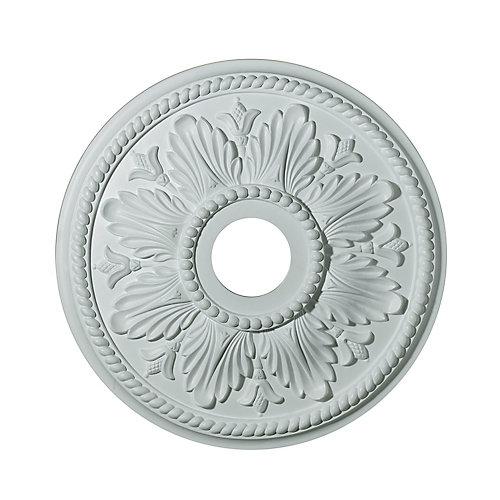 45,72cm Medallion, fini matte blanc