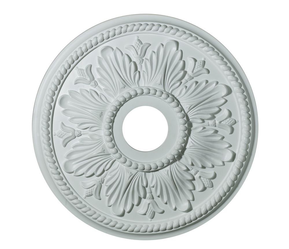 18 Inch Medallion, Matt White Finish