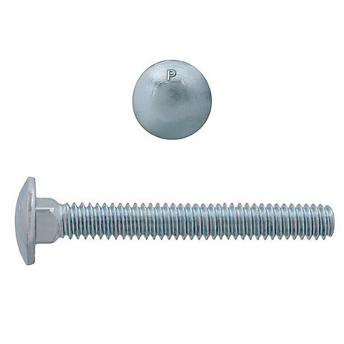 1/4-inch x 2-inch Carriage Bolt - Zinc Plated - UNC