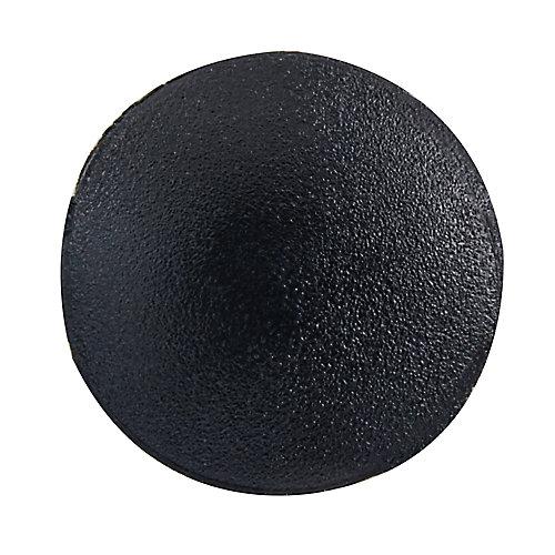 #1 capuchons de vis en plastique noir