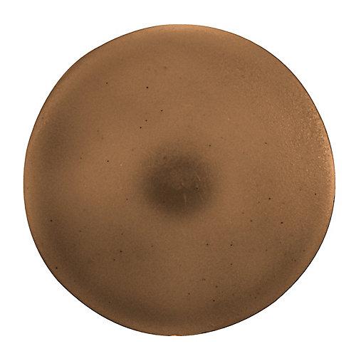 #2 capuchons de vis en plastique brun