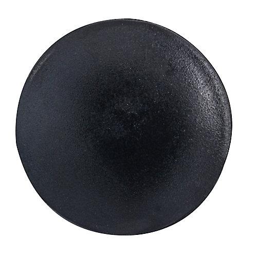 #2 capuchons de vis en plastique noir