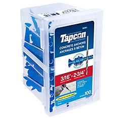 3/16 x  2 3/4 Flat Head Tapcon  Concrete Anchor