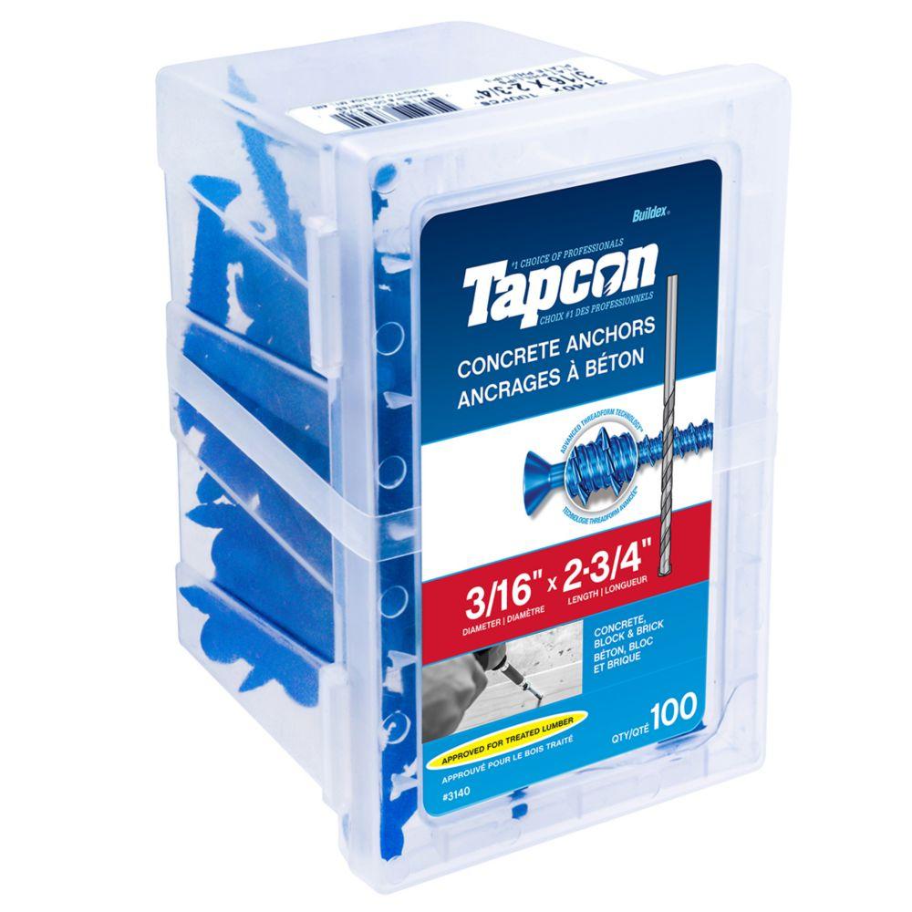 3/16 x  2 3/4 Flat Head Tapcon<sup>®</sup>  Concrete Anchor
