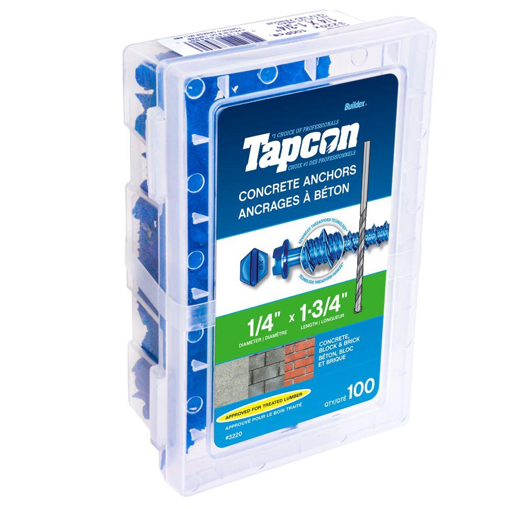 Paulin 1/4 X1 3/4 Hex Tapcon  Concrete Anchor