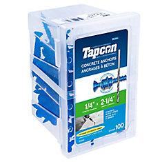 1/4 X 2 1/4 Flat Head Tapcon Concrete Anchor
