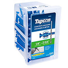 1/4 X 2 3/4 Flat Head Tapcon Concrete Anchor