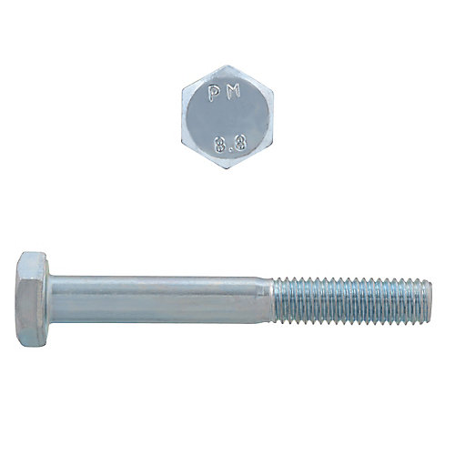 M6-1.00 x 50mm Class 8.8 Metric Hex Cap Screw - DIN 931 - Zinc Plated