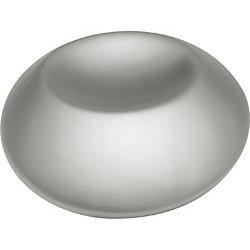 Belwith bouton rond à empreinte au fini nickel perlé d'un diamètre de 1 1/4 pouce