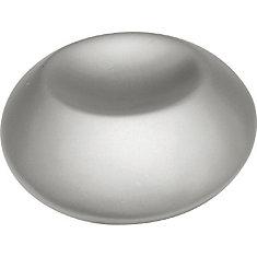 Pearl Nickel Round Indented Knob. 1-1/4 In. Diameter