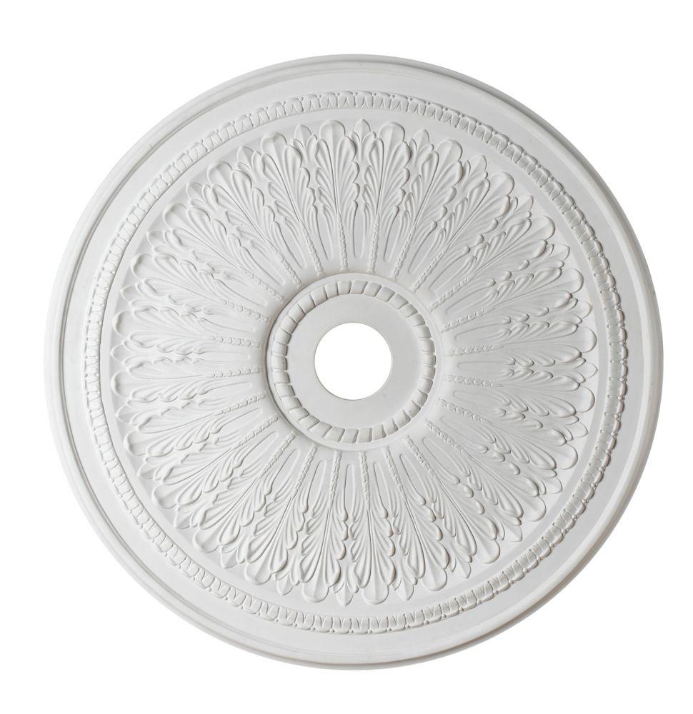 73,66cm Medallion, fini matte blanc