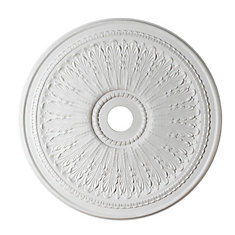 29-inch Medallion, Matt White Finish