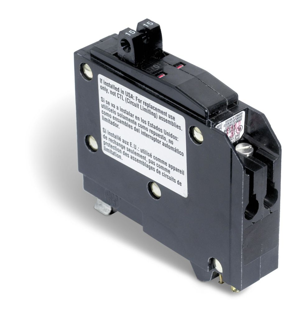 Single Pole 15 Amp QO Tandem Circuit Breaker QO1515CP Canada Discount