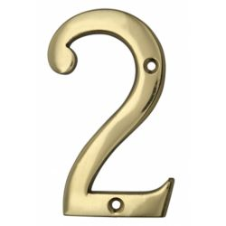 Taymor Classic Style Brass Number - 4 inch