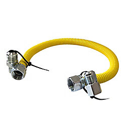 Dundas Jafine 24-inch Gas Connector with 1/2-inch Male and Female Connectors