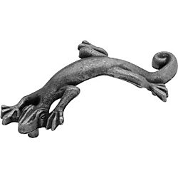 Belwith Pewter Lizard Pull, 3 In. C.C.