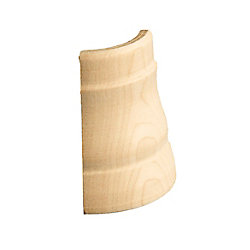 Alexandria Moulding Maple Soft Outside Base Corner - For Base #40356