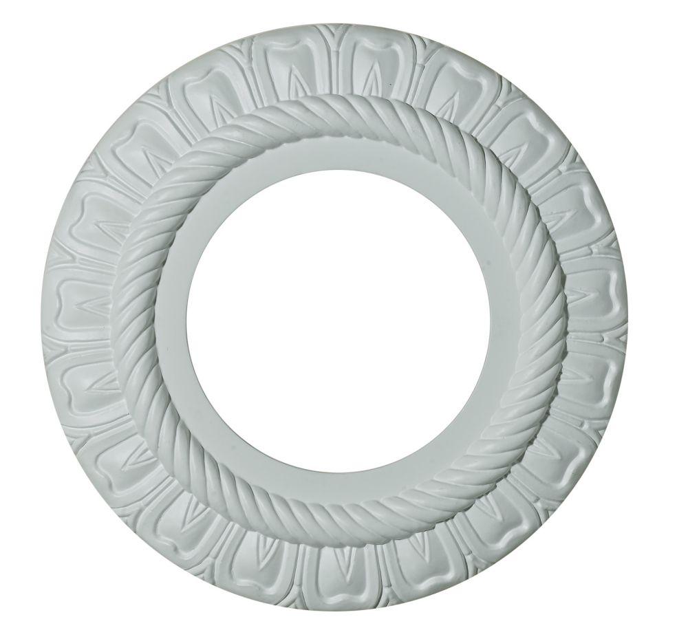 22,86cm Medallion, fini matte blanc