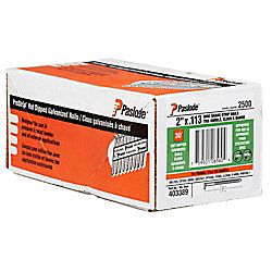 Paslode .113X2 In. Ring shank galvanized framing Strip Nails