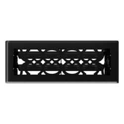 Hampton Bay 3 inch x 10 inch Victorian Floor Register - Matt Black