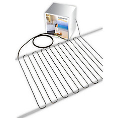 True Comfort 240-V Floor Heating Cable - Covers from 74 up to 95 sf depending on chosen spacing