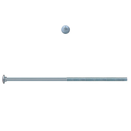 3/8-inch x 12-inch Carriage Bolt - Zinc Plated - UNC