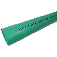 PVC 4 Inch x 10 Feet Solid Sewer Pipe - Ecolotube