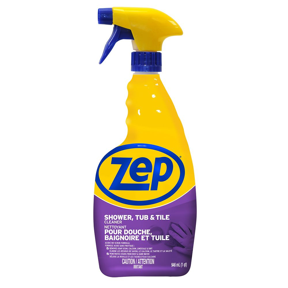 Zep commercial zep shower tub tile cleaner 946ml the for Best product for cleaning bathroom tiles