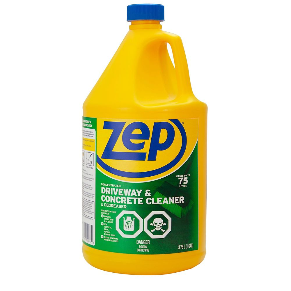 Zep commercial zep driveway concrete cleaner the for Concrete floor degreaser