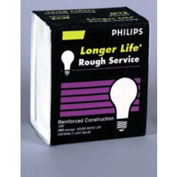 Philips 50W A19 Rough Service Frost (2-Pack)