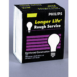 Philips 100W Incandescent A19 Rough Service Frost Light Bulb (2-Pack)