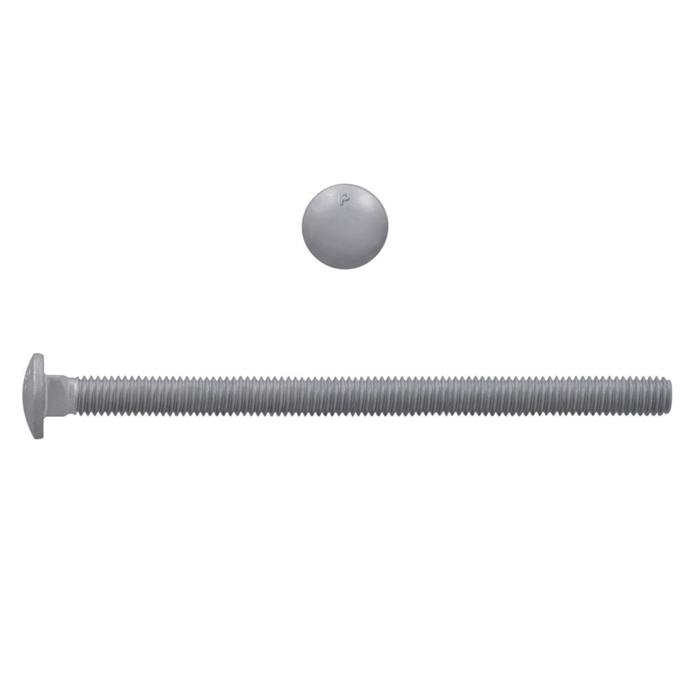 3/8x6 GR2 Carriage Bolt HDG