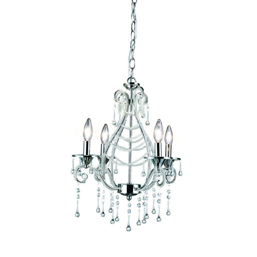 Eurofase Prelude Collection 4 Light Chrome Chandelier
