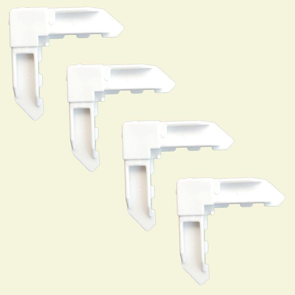 fermant les coins à clef 4 - blanc de poly-sac