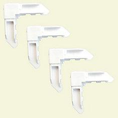4 White Screen Frame Locking Corners